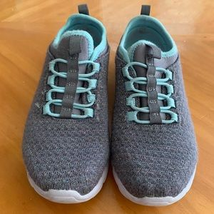 Gray and aqua slip on Sneakers